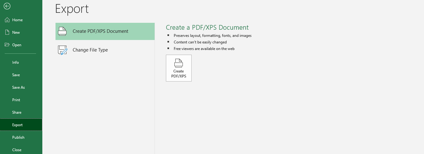 convert excel to xps document 3