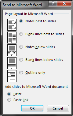 how to convert powerpoint to Word 5