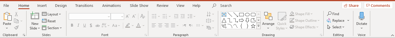 file option in powerpoint presentation