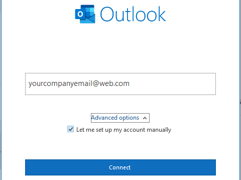 how to setup domain email in outlook 3