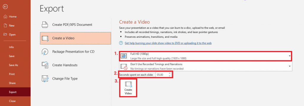 how to convert powerpoint to video 4