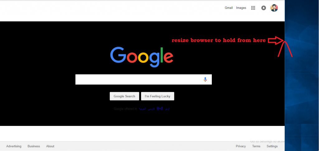 Wordpress on-page seo - resize browser to check mobile friendly website
